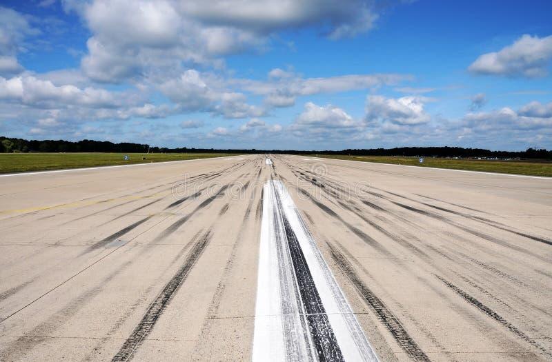 Pista di atterraggio fotografia stock