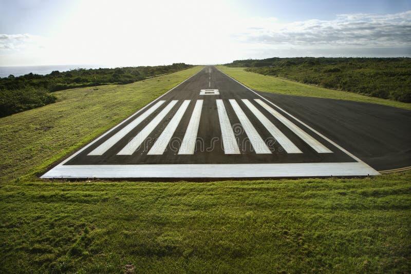 Pista di atterraggio dell'aeroplano. fotografie stock