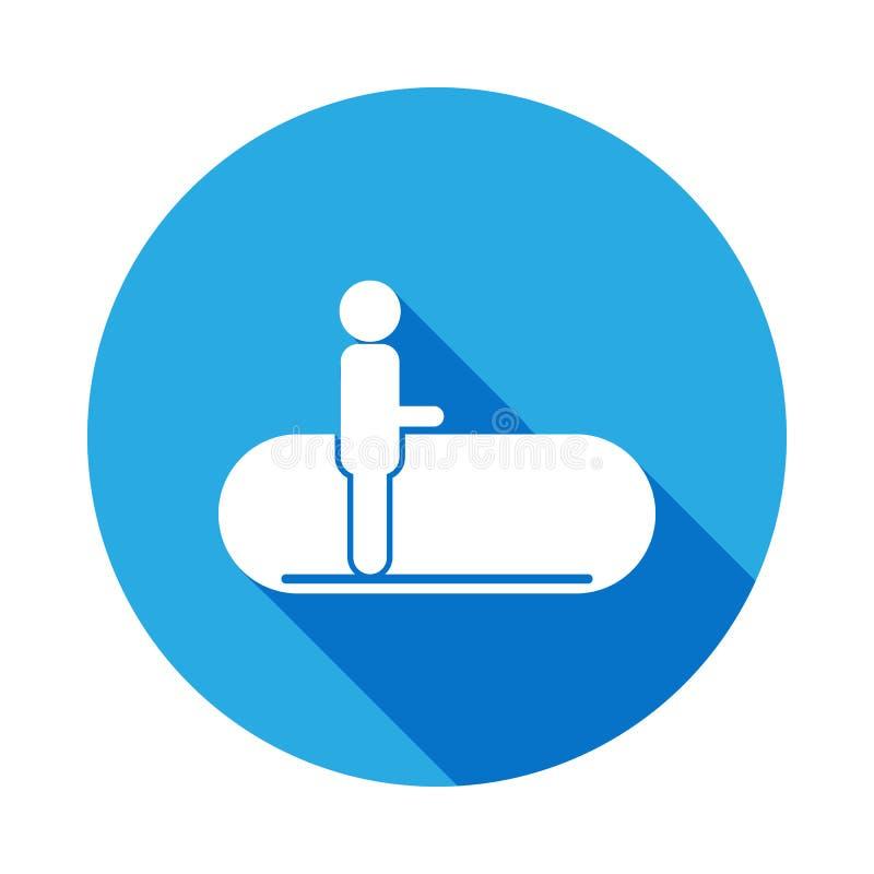 pista di camminata con l'icona lunga dell'ombra Elemento dell'icona di viaggio per i apps mobili di web e di concetto L'icona di  royalty illustrazione gratis