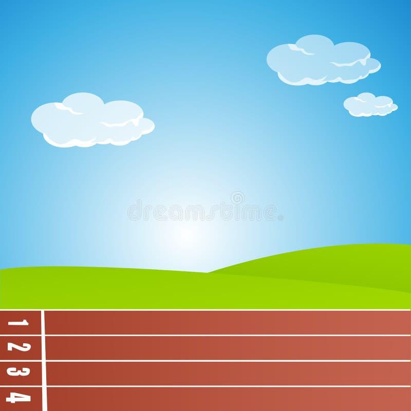 Pista di corsa illustrazione vettoriale