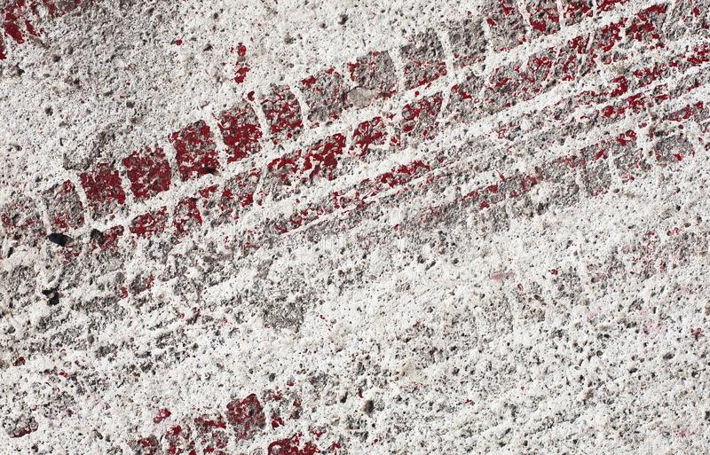 Pista di corsa su una parete immagini stock libere da diritti