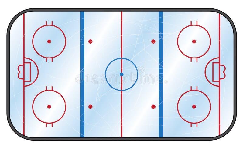 Pista di pattinaggio dell'hockey su ghiaccio illustrazione di stock
