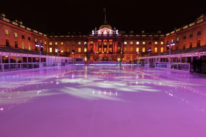 Pista di pattinaggio sul ghiaccio della Camera di Sommerset fotografie stock