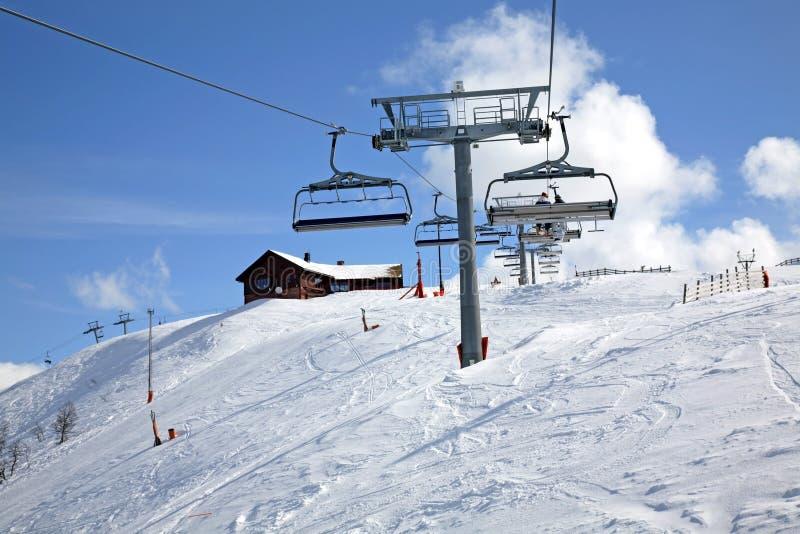 Pista di sci in Lindvallen Salen Il distretto di Dalarna sweden fotografia stock