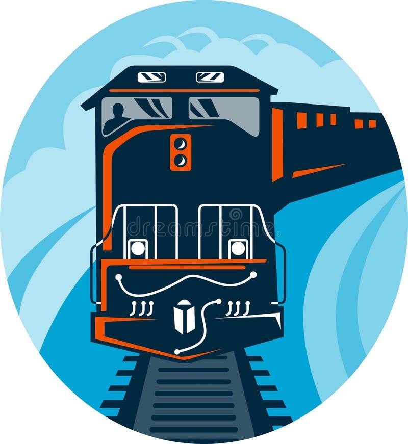 Pista di viaggio del treno diesel illustrazione di stock