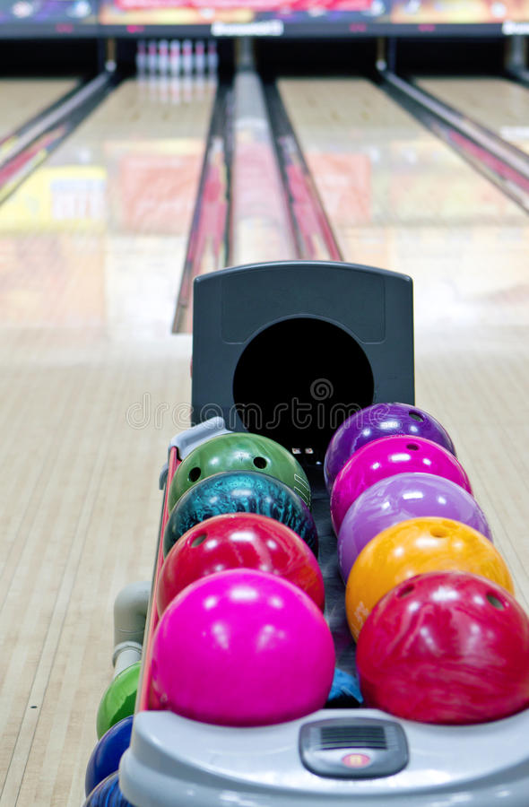 Pista do bowling foto de stock