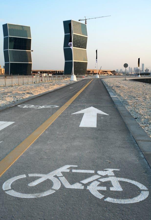 Pista do ciclo em Doha imagens de stock