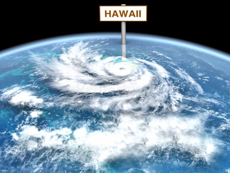 Pista do furacão ilustração do vetor