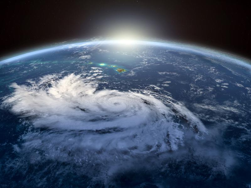 Pista do furacão ilustração royalty free