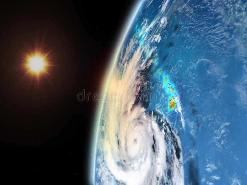 Pista do furacão do espaço ilustração royalty free
