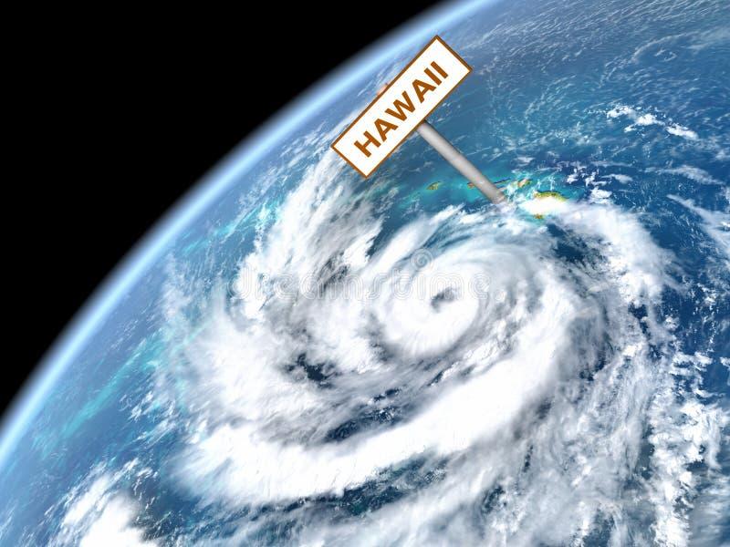 Pista enorme do furacão ilustração royalty free