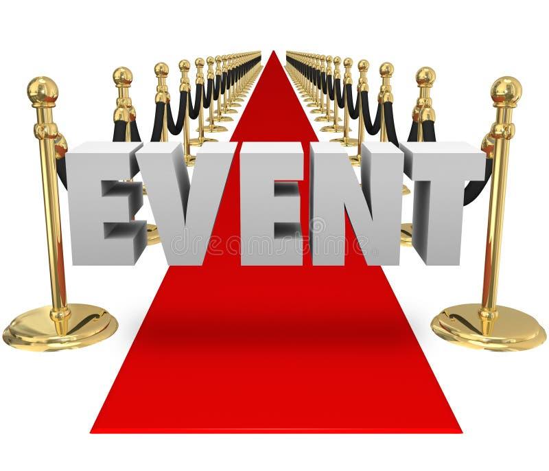 Pista exclusiva del evento del VIP de la alfombra roja de la palabra del evento ilustración del vector