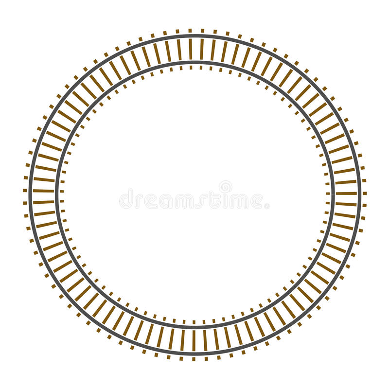 Pista ferroviaria del tren del círculo del infinito ilustración del vector