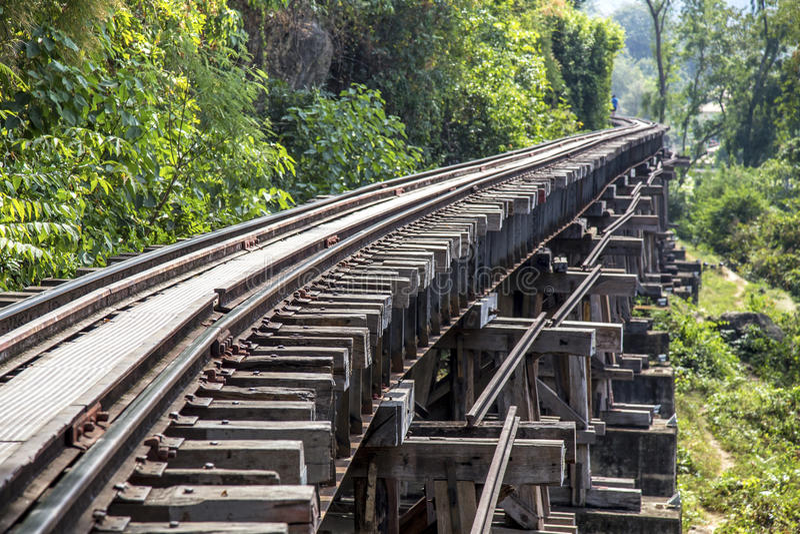 Download Pista Ferroviaria En La Provincia De Kanchanaburi, Tailandia Foto de archivo - Imagen de ensambladura, sangre: 64205994