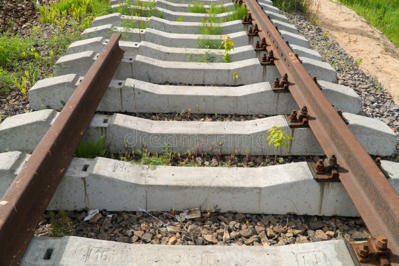 Pista ferroviaria inacabada imagen de archivo libre de regalías
