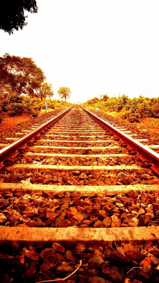 Pista ferroviaria india fotografía de archivo libre de regalías