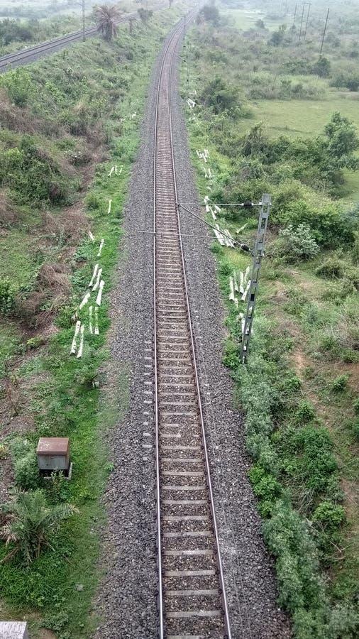 Pista ferroviaria sola fotografía de archivo libre de regalías