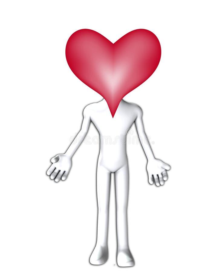Pista grande del corazón stock de ilustración
