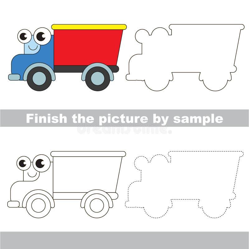 Pista Hoja de trabajo del dibujo stock de ilustración