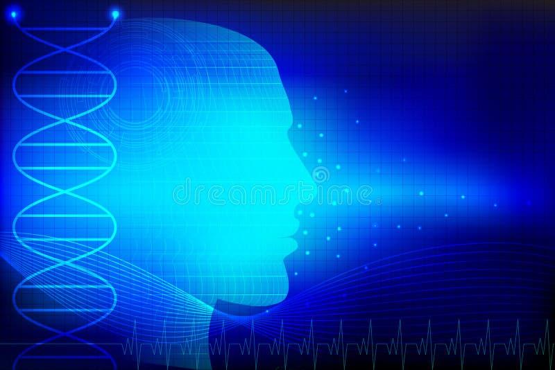 Pista humana en fondo médico ilustración del vector