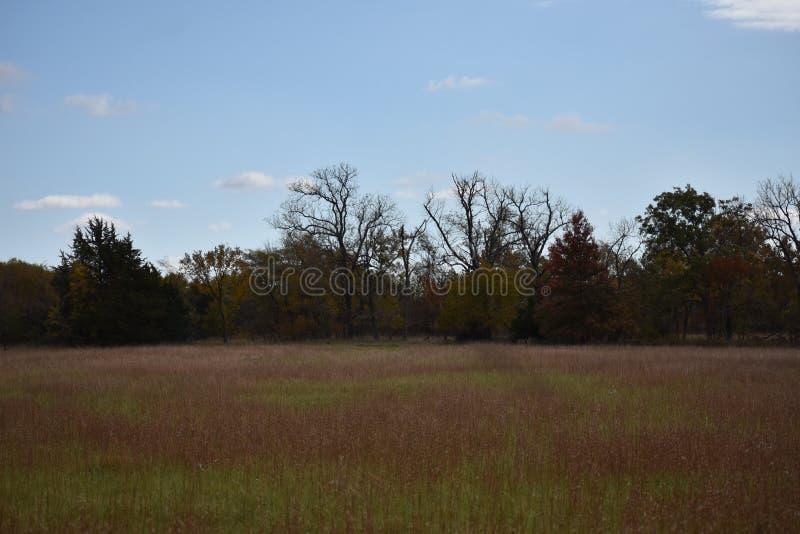 Pista, Kansas no outono imagem de stock