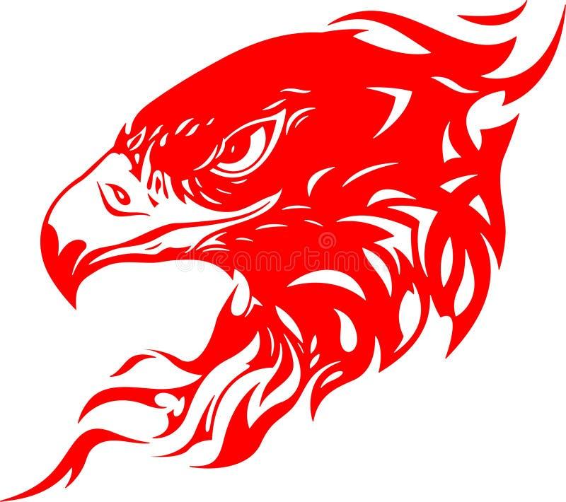 Pista llameante 1 del águila ilustración del vector