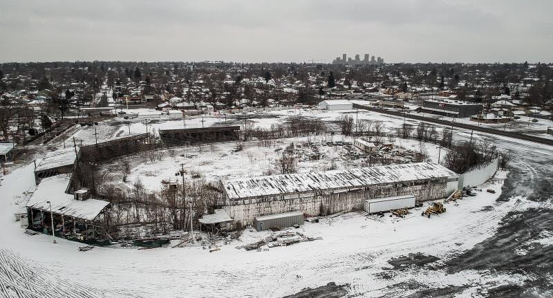 Pista nevada imágenes de archivo libres de regalías
