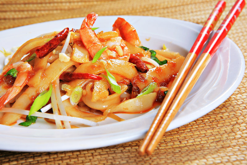 Pista picante del camarón tailandesa foto de archivo libre de regalías