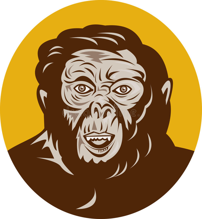 Pista prehistórica del hombre del hombre de las cavernas ilustración del vector