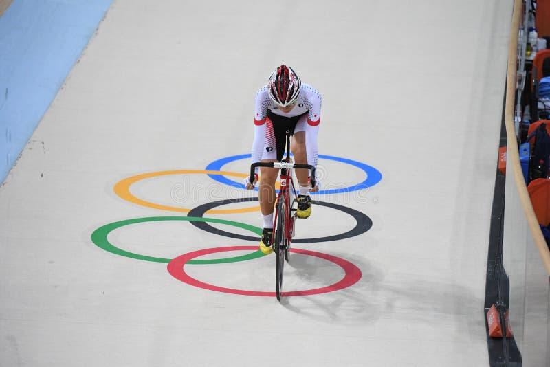 Pista que completa un ciclo en las 2016 Olimpiadas fotografía de archivo