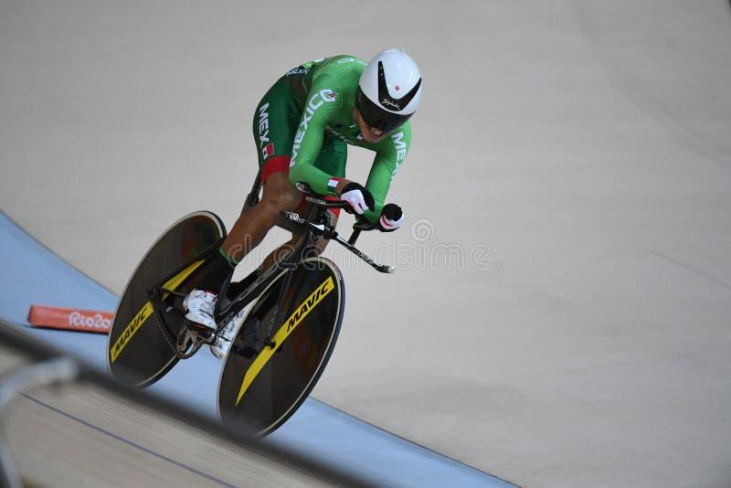 Pista que completa un ciclo en las 2016 Olimpiadas foto de archivo libre de regalías