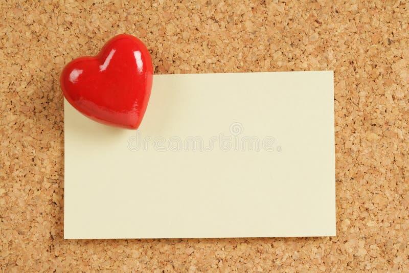 Pista roja del corazón y de nota foto de archivo libre de regalías