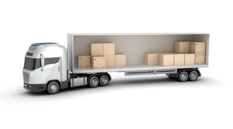 Pista y mercancías stock de ilustración