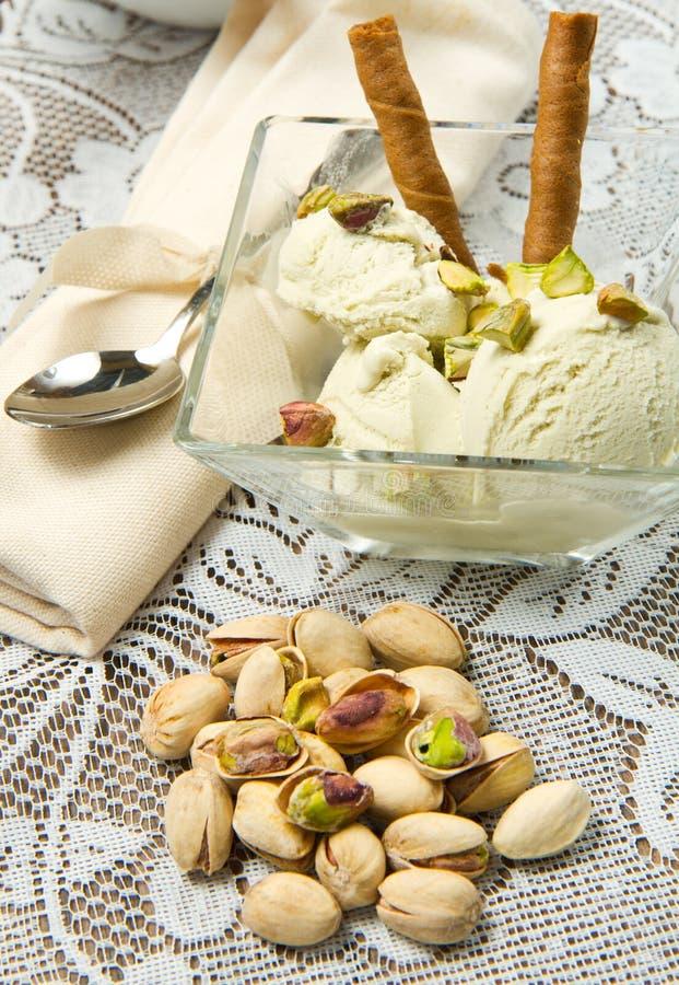 Pistacchio del gelato fotografie stock libere da diritti