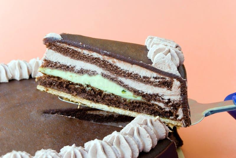 Pistache-Marzipan.chocolate p royalty-vrije stock afbeelding