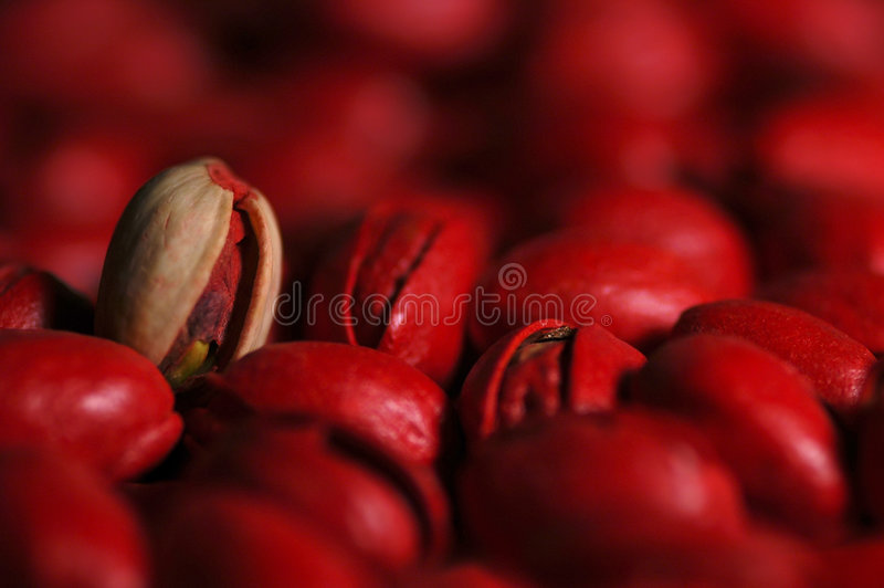 Pistaches rouges image stock