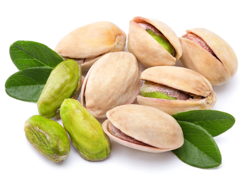 Pistachio. Nuts isolated on white background royalty free stock photography