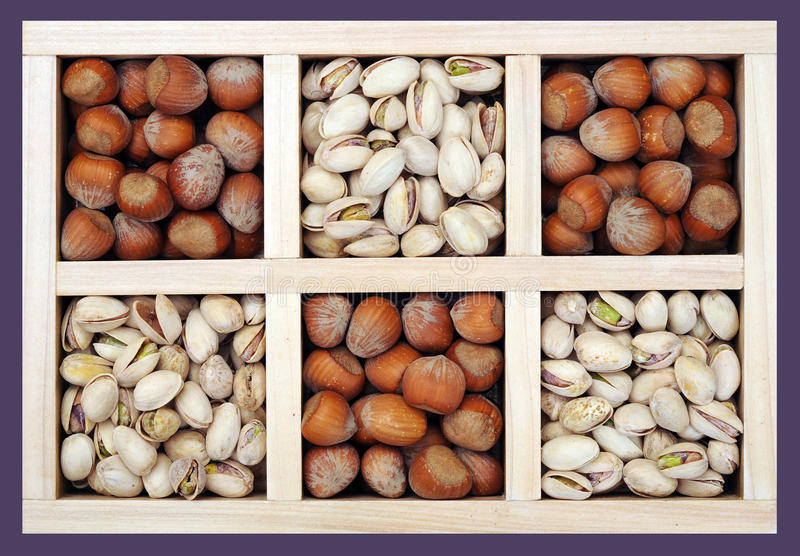 Download Pistachio and hazelnut stock photo. Image of square, snack - 27702648