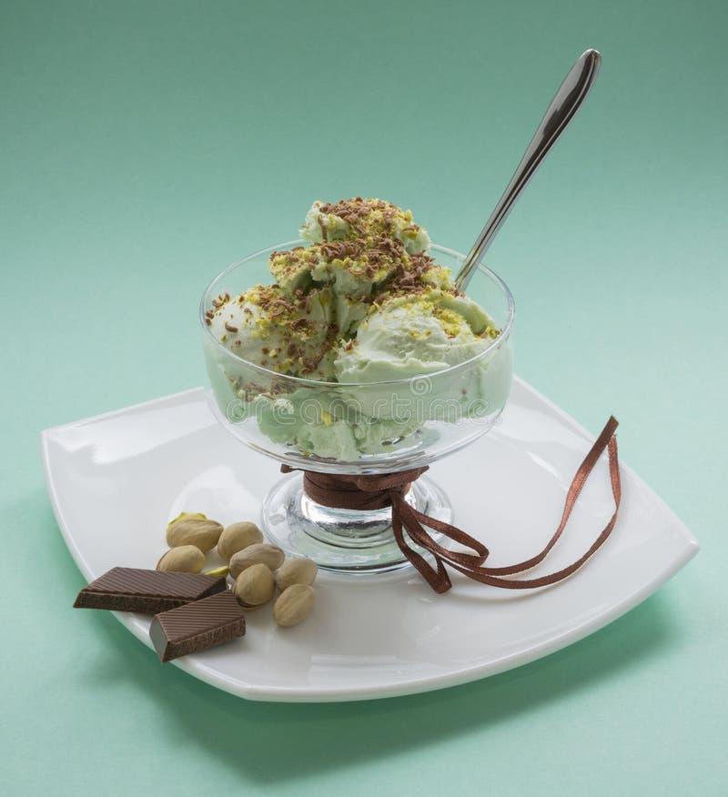 Pistachio ice cream royalty free stock photos