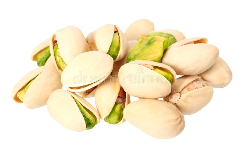 pistachio isolated on a white background. Food royalty free stock images