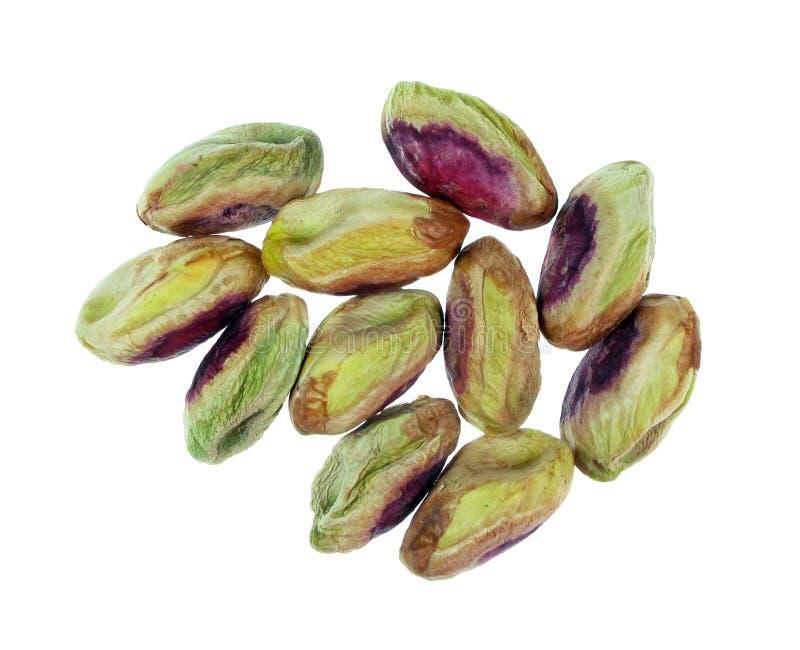 Pistachio kernels. Close up of fresh pistachio kernels royalty free stock image
