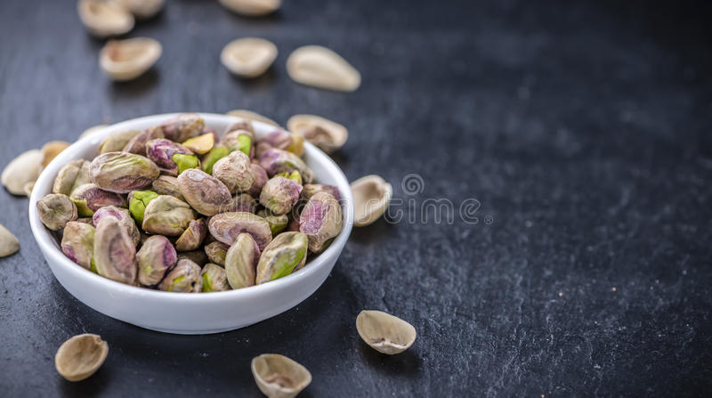 Pistachio Kernels. As detailed close-up shot (selective focus royalty free stock image