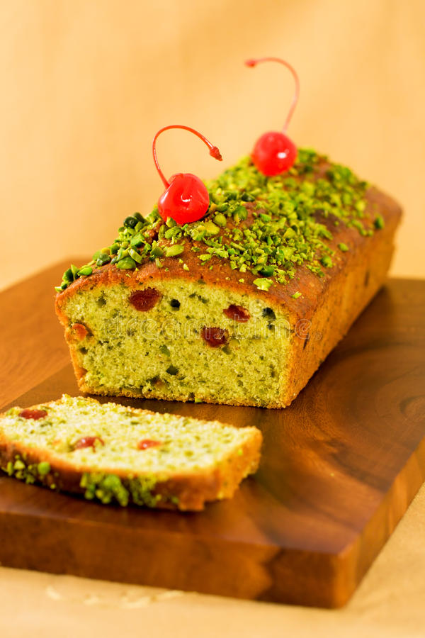 Pistachio Loaf Cake Royalty Free Stock Photo