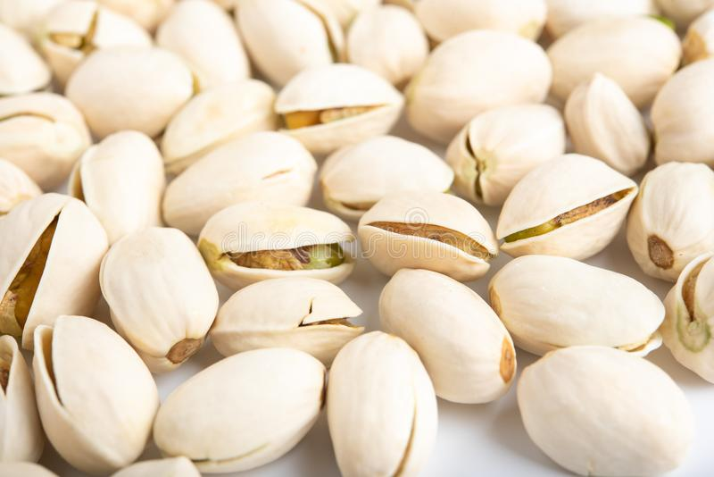 Pistachio nuts arranges as background royalty free stock images