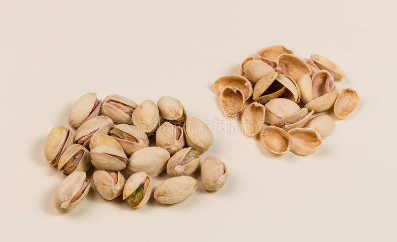Pistachio Nuts and Empty Shells stock photography