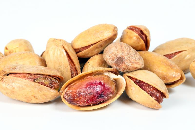 Pistachio nuts shell stock images