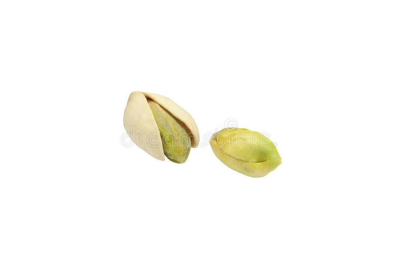 Pistachio nuts on white. Background royalty free stock images