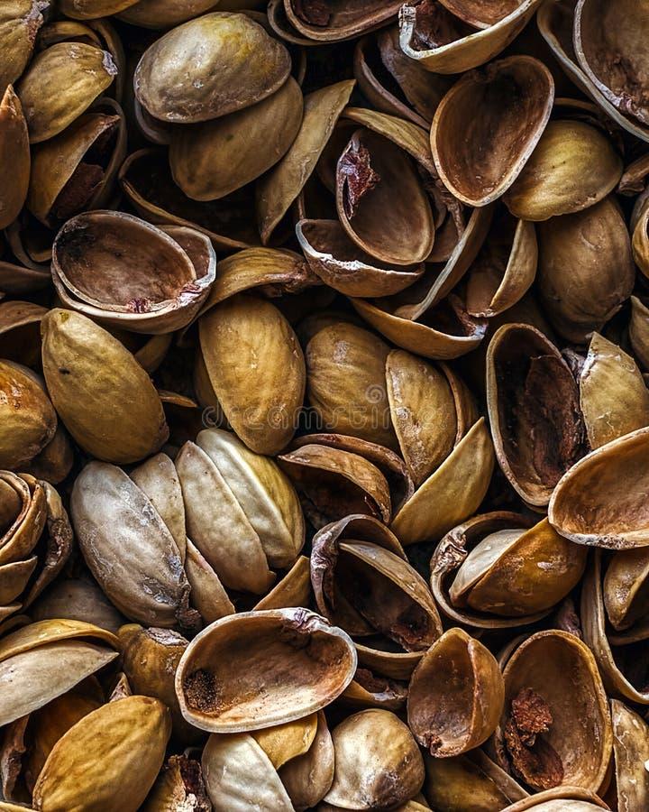 Pistachio shells background royalty free stock photography