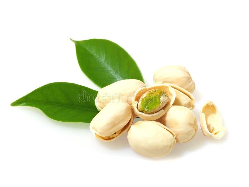 pistachioes isolati su fondo bianco immagine stock libera da diritti