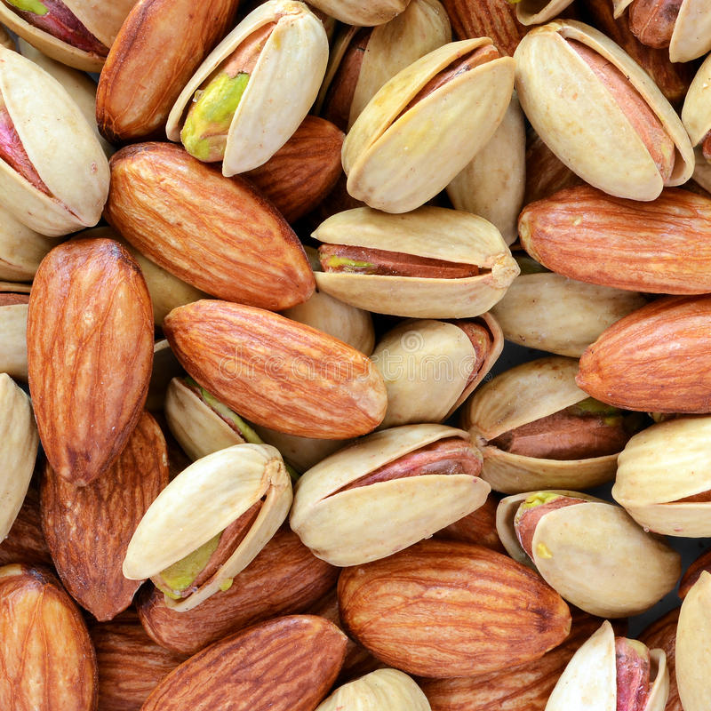 Download Pistachios & almonds stock image. Image of bunch, detail - 24864073